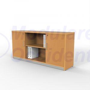 Credenza horizontal 2 puertas y espacio