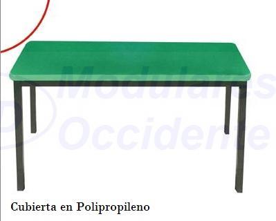 Mesa Escolar 1.20x40x75 Polipropileno