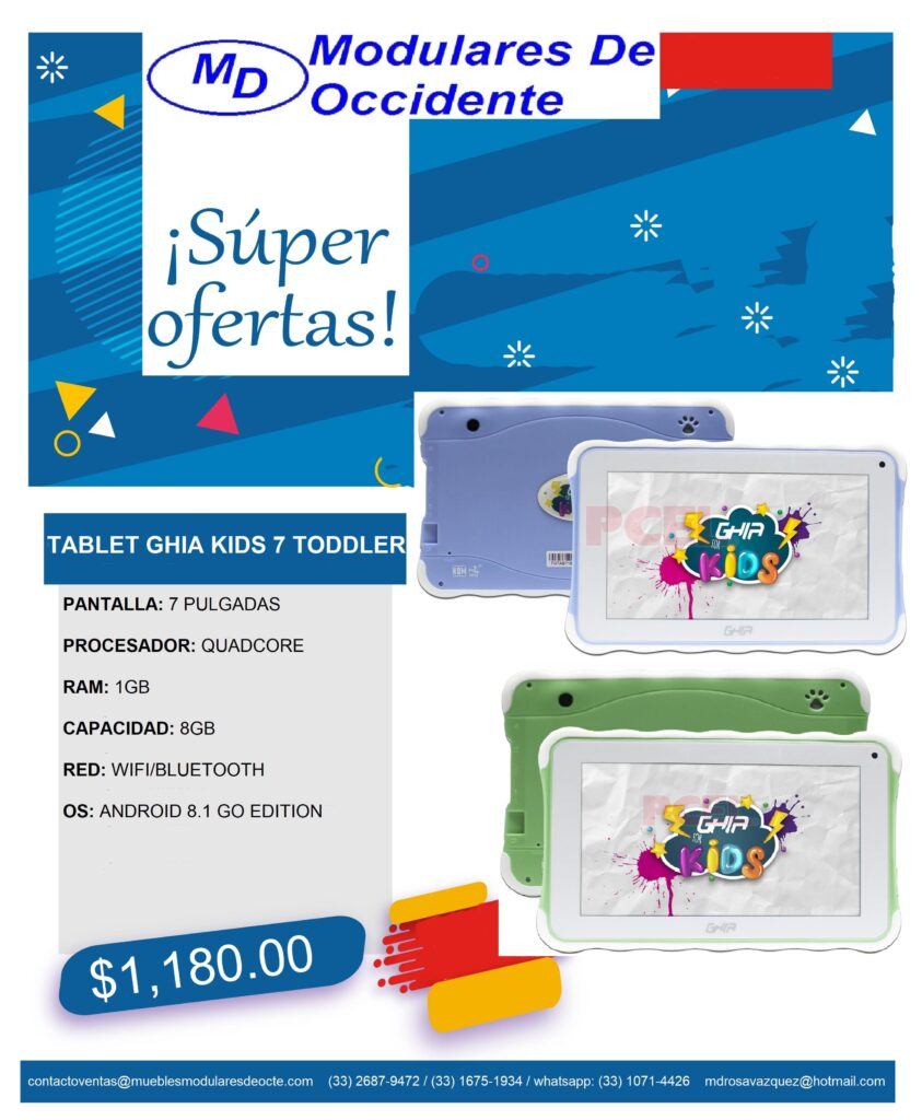 oferta tablet azul