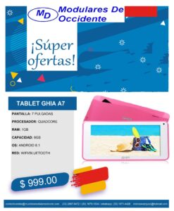 oferta tablet rosa