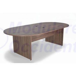 Mesa de juntas ovalada