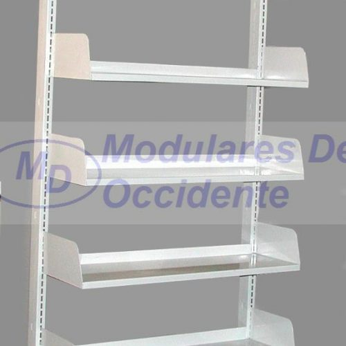 librero metalico para biblioteca o archivo 1 lado